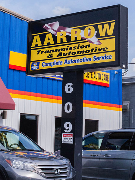 Aarrow Transmission sign, South Richmond location