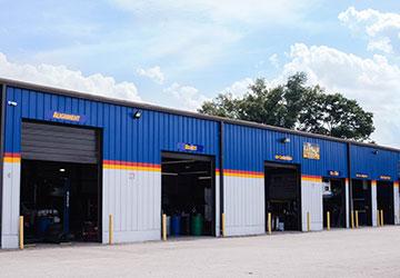 aarrow transmission garage bays